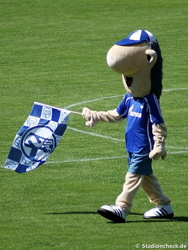 Erwin, das Maskottchen von Schalke 04